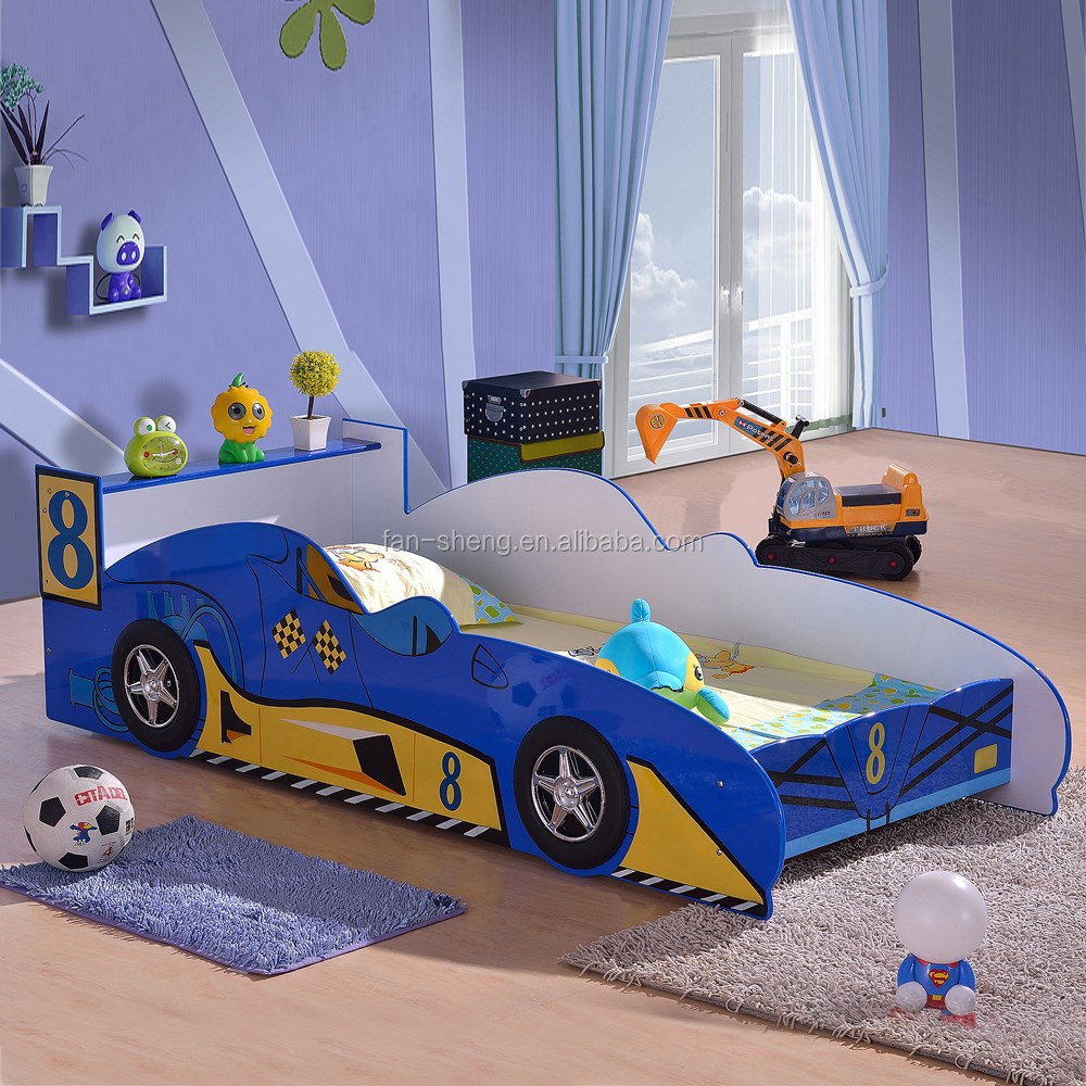 Blue car beds for kids - Hot Model Smart Kids Furniture Blue And Yellow Car Bed Specific Use Kids Car Bed Furniture