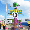 Playground machine amusement park mini free fall tower games equipment jumping frog hopper ride