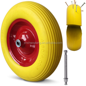 16 inch 4.00-8 hard Wheelbarrow PU Foam solid Wheel