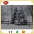 Fiber Optic Lighted Winter Snow Scene Christmas Tree LED Canvas Picture with LED