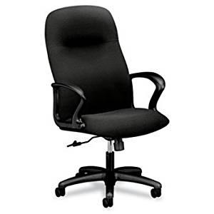 """The HON Company High Back Chair, 27-1/2""""x36-1/4""""x13"""", Black"""