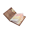 Brown Cow Leather Passport Holder Card Holder