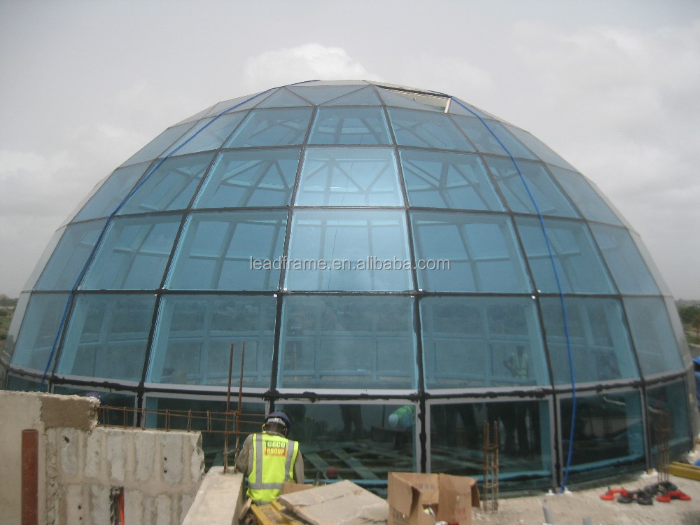 High Strength Prefabricated Steel Glass Dome Structure