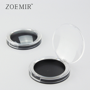 Clear delicate plastic egg shape blush powder container/highlight powder case