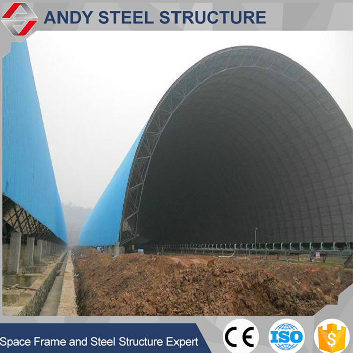 Durable light weight steel structure shed for coal storage