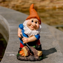 cute garden gnome statue for garden decoration