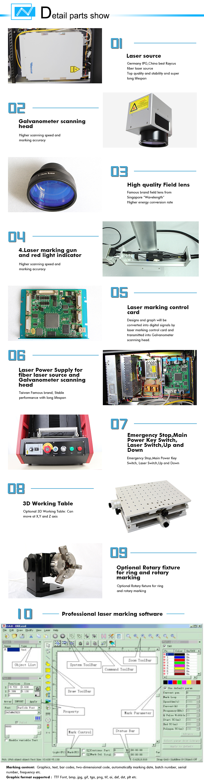 Portable Low Price Fiber Laser Marking For Logo Label Making Car ...