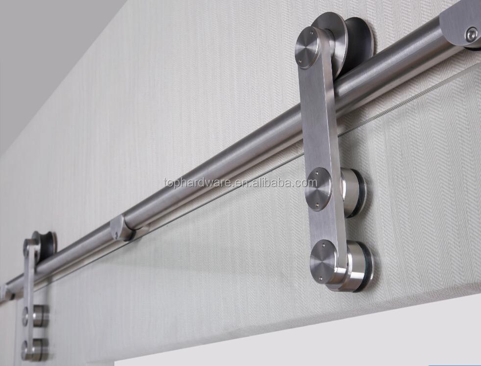 Puerta corredera colgando poleas carril de deslizamiento - Carril para puerta corredera ...
