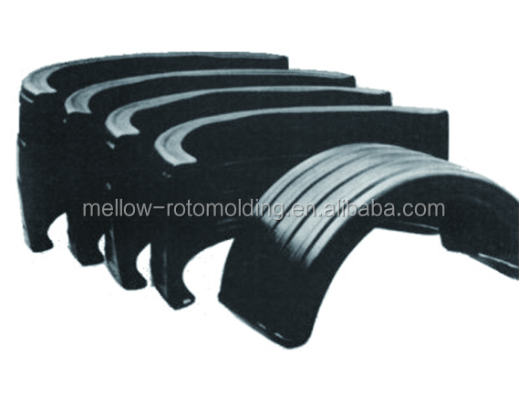 Rotomolding high impact tractor/truck/car fenders