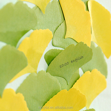 Exquisite design kraft paper ginkgo biloba leaves for post-it notes