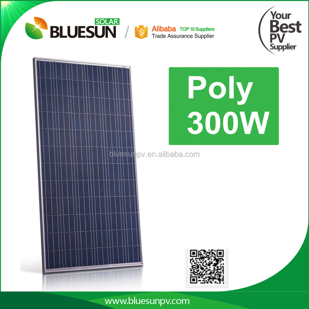 Bluesun chinese best factory supply Bluesunpower polycrystalline 300wp pv panel solar 300w 12v