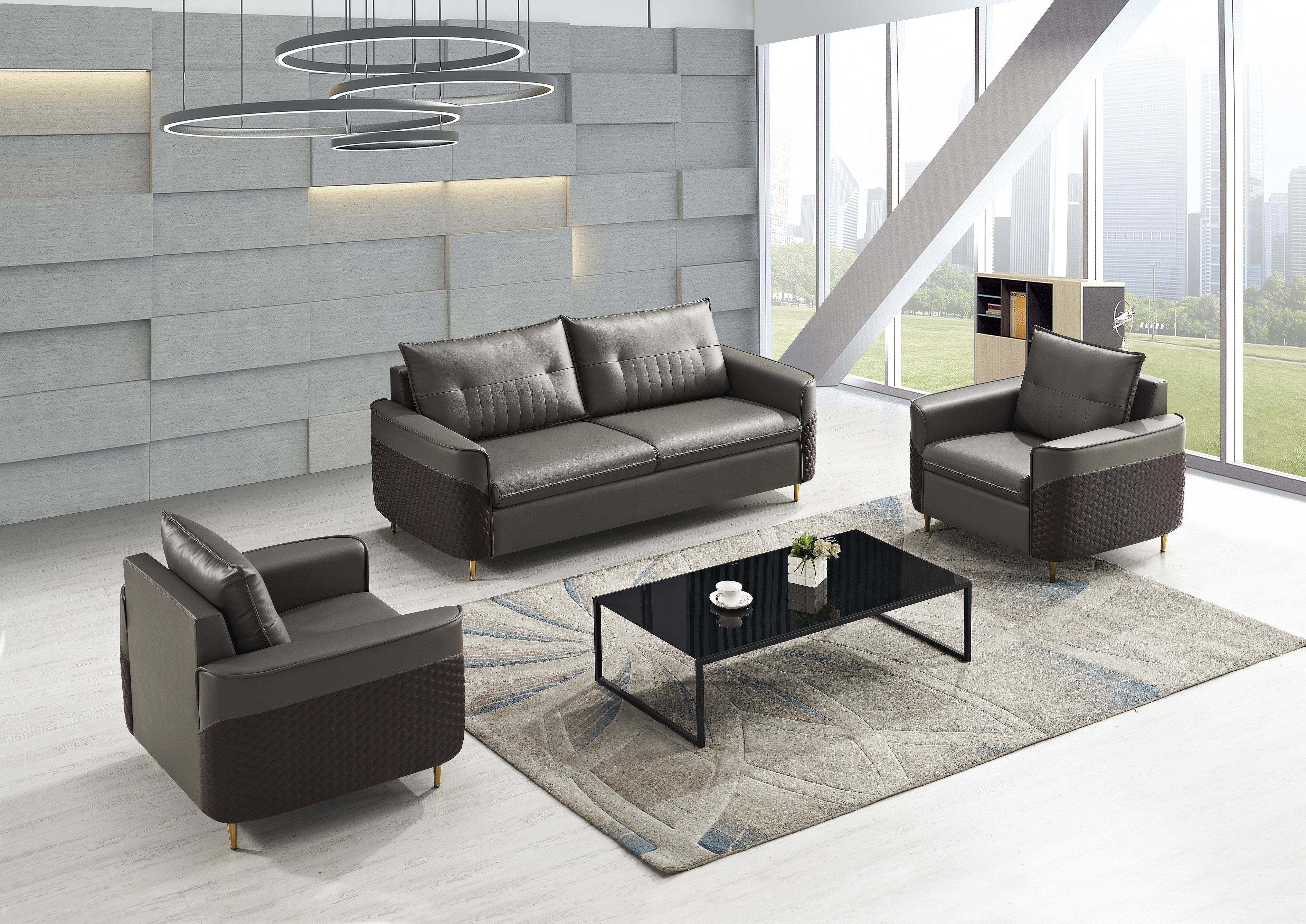 2019 New model leather sofa sets pictures/office sectional sofa furnitureW8688
