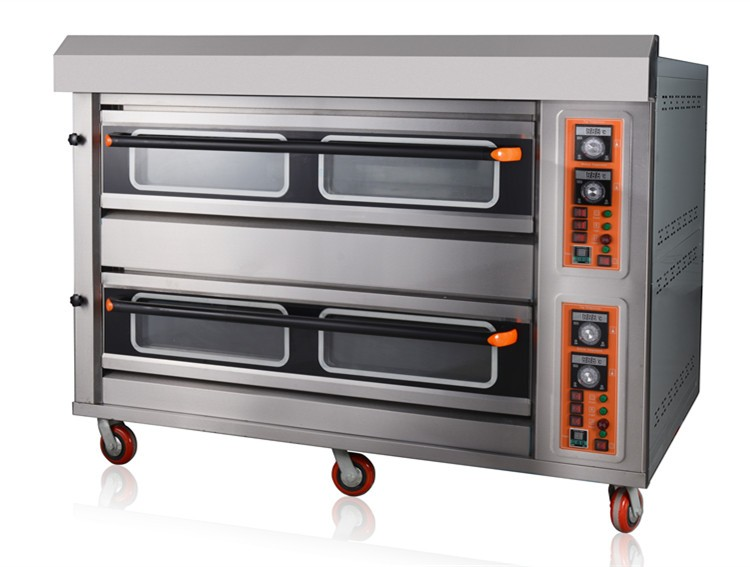 Oem Komersial Roti Listrik Oven 4 Nampan Besar Setiap Dek Peralatan Dapur Industri Untuk Pastry