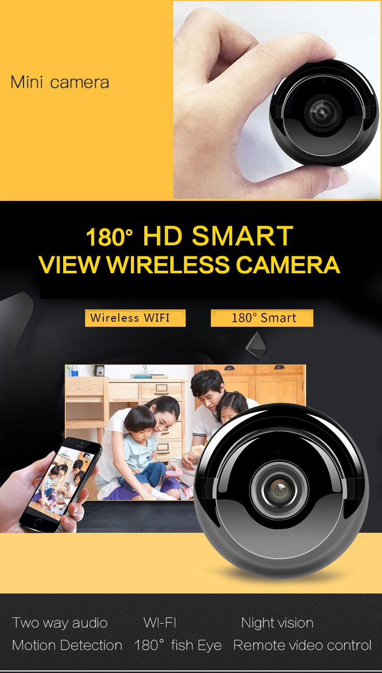 Mini Hidden Camera Wifi Wireless Hd 720p Indoor Home Small Security Camera