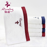 Sandy brand ODM towel 100% Cotton Velvet Ultra Soft Washcloth Face Towel