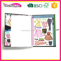 Convenient childrens clothing sticker books, children thick paper book printing, children sticker book printing