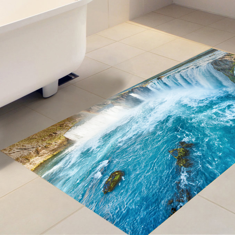 DB008 Decorative Vinyl Anti-slip Waterfall 3D Floor Sticker Wall