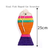 High quality wholesale newest sisal fish shaped cat scratcher pdq cardboard display taxi toy car