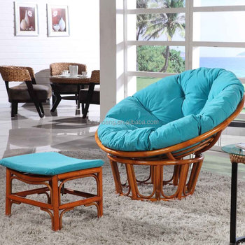 Indoor Leisure Design Comfortable Cane Wood Rattan Wicker Lounge Seating Relaxing  Chair