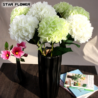 Cheap Wholesale 12 colors High quality Real Touch Silk Artificial Hydrangea Fake Flower for Wedding Party decoration