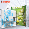 System Banner Show And Event Fabric Spring Pop Up Display Wall