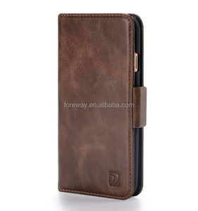 Premium Magnetic Wallet Leather Clamshell Cell Phone Case For Iphone 6 7 8 X