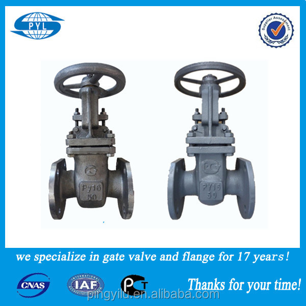 alibaba express cast iron or cast steel stem gate valve china supplier