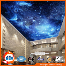 Fireproof Night sky with stars designs printing film rolls for false ceiling designs