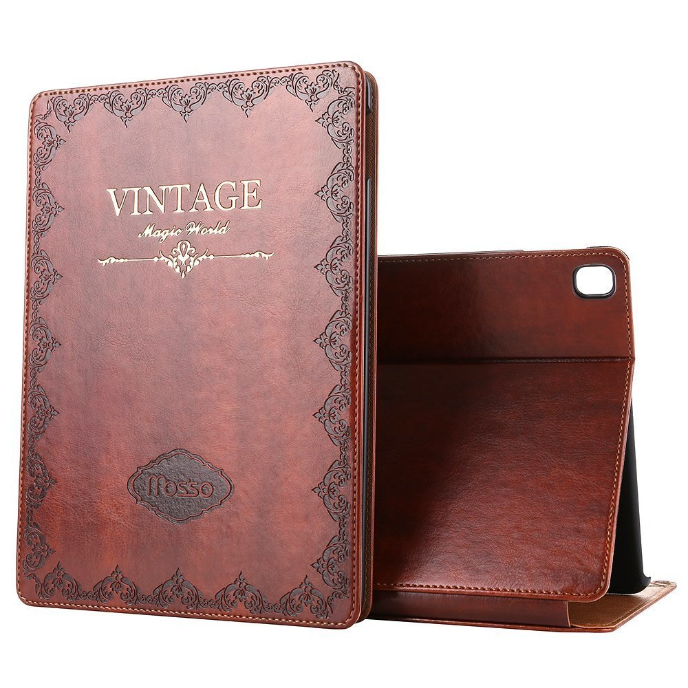 "iPad Pro 9.7"" Vintage Brown BOOK Type Leather Case Flip Cover, Miniko(TM) Modern Vintage Book Style Case for Ipad Pro9.7"" Premium PU Leather Smart Case Auto Sleep Wake Slim Fit Multi Angle Stand"