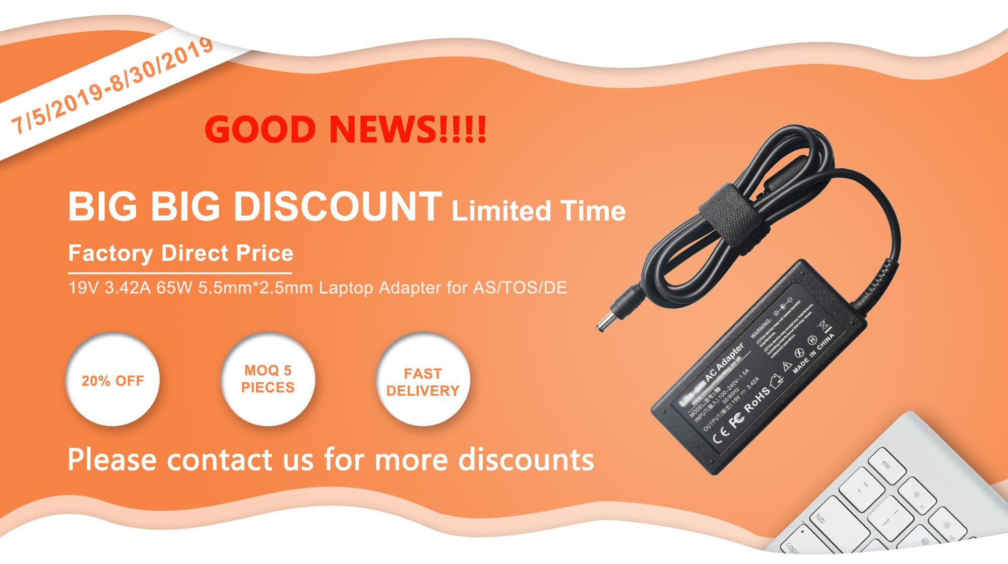 20V 3.25A Laptop AC Charger for Lenovo with USB Pin 65W Laptop Charger