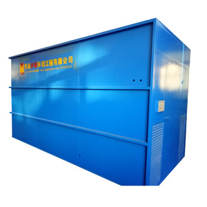 Containerized sewage treatment plant for community