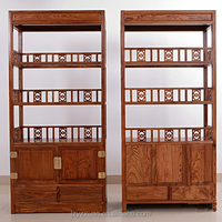 solid wood mahogany carved bookcase wall units with drawers