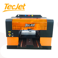 TECJET Inkjet Digital Photo Card Pvc Led 3d Metal Emboss flatbed Printer Mobile phone Case/Cover /pen Logo/ Plastic Bag