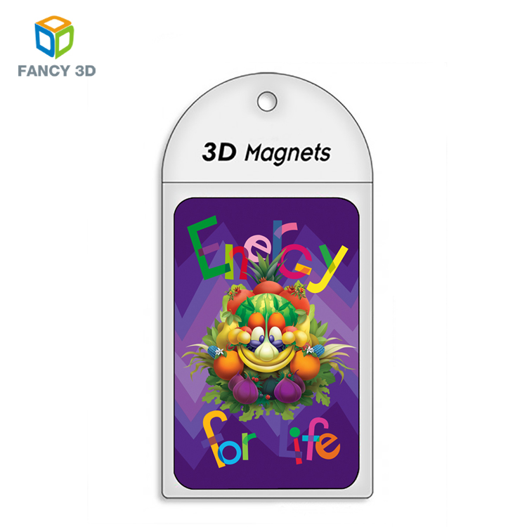 Zebulun High Margin Products 3D Customized Fruit Design Magnet Card For Children