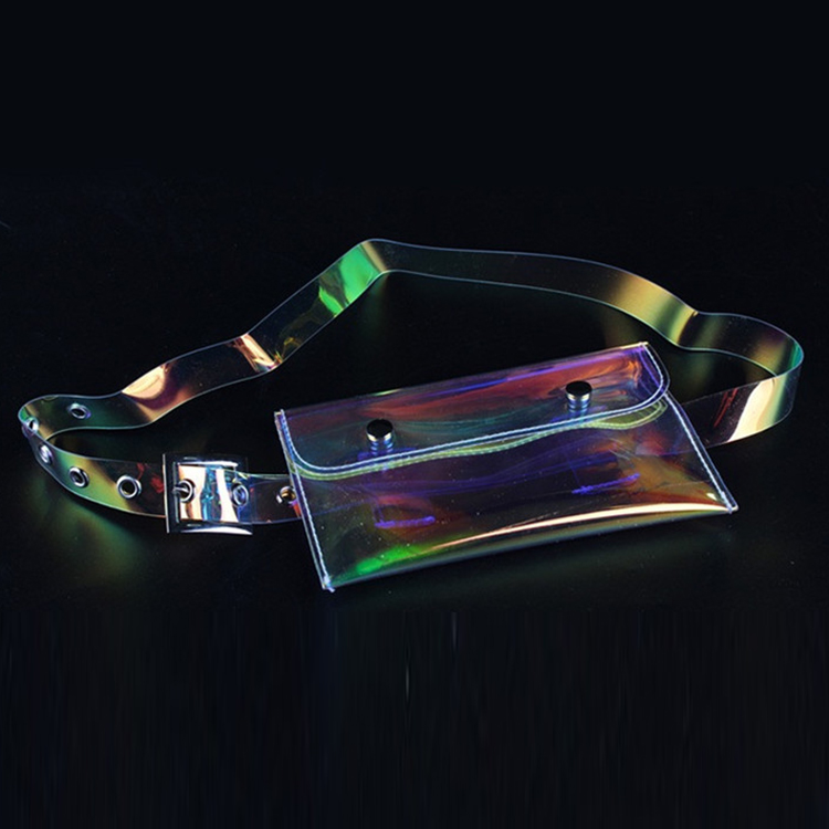 Hologram Shiny Holographic Fanny Pack Waterproof Waist Bag Fashion Bum Bag for Festival