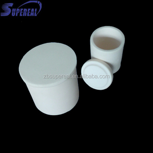 Cylindrical high temperature industrial alumina ceramic crucible with high purity