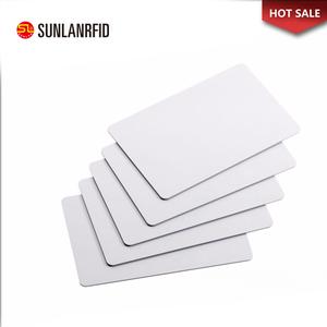 Low price 13 56MHZ rfid smart card Nfc ULT-EV1-7UID chip Plastic Blank ID  Card Size Inkjet Printable PVC white card