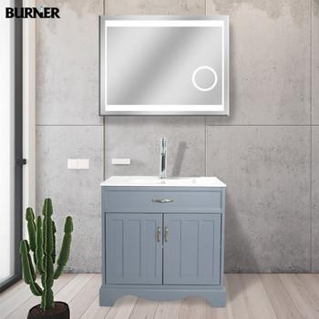 HF-S007 Hot sale luxury grey bathroom vanity cabinet with mirror