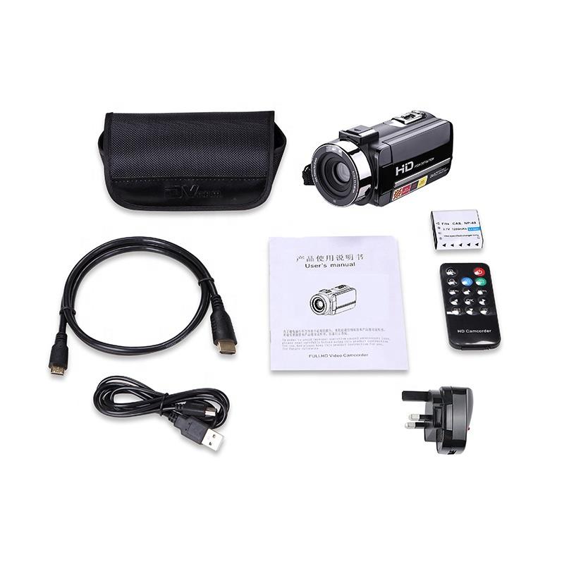 24MP 3,0 дюймов сенсорный экран ИК Ночное Видение дистанционное управление Профессиональный full hd видео камера видеокамера