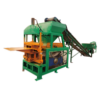 QT4-10Automatic hydraulic customer logo clay interlocking brick press machine