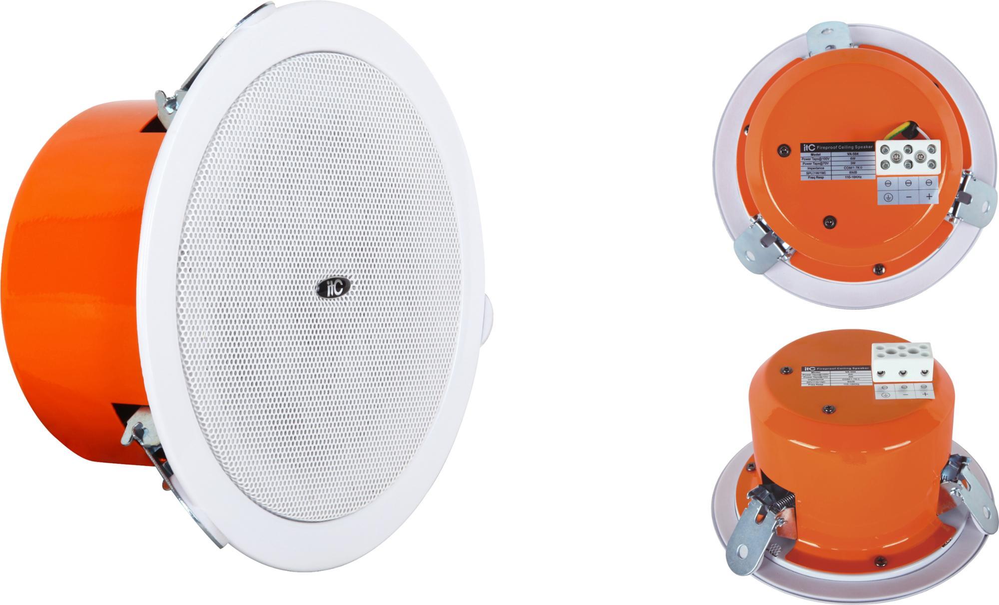 """Type De Haut Parleur cti va-505a 6 w 3 w 5 pouces alarme incendie utilisé coaxial type  haut-parleur de plafond avec 1.5 """"tweeter - buy haut-parleur de plafond  avec"""