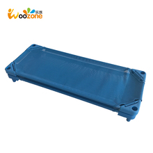 wholesale PP mesh fabric cover daycare plastic kids stackable cot bed