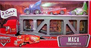 Disney / Pixar CARS Movie 1:55 Die Cast Figure Series 3 The World of Cars 3-Pack Mack Transporter with DJ, Snot Rod & Wingo
