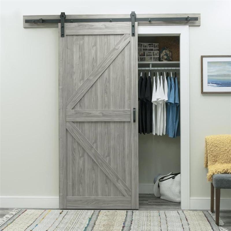 Grey Color Madern Sliding Barn Door Doors For Modern House