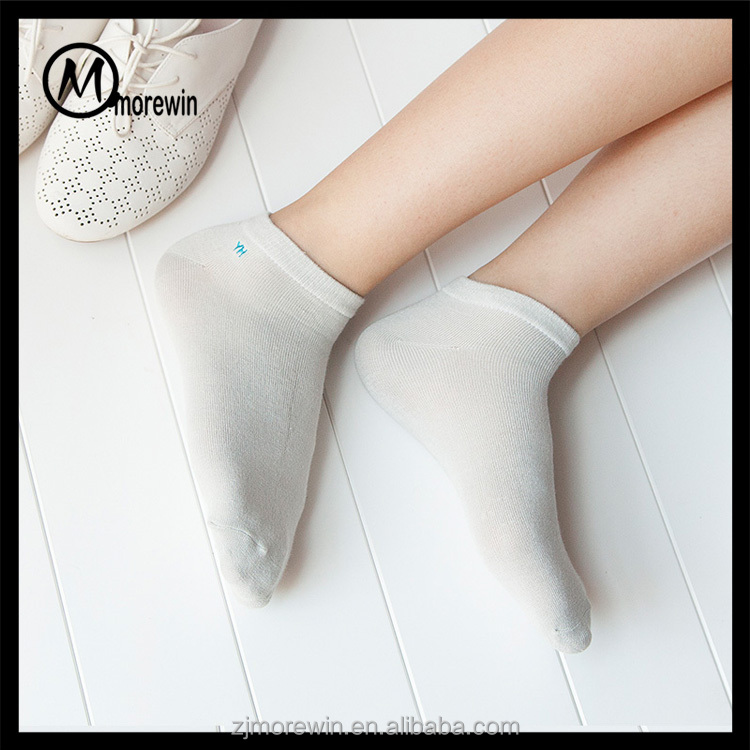 2017 Morewin high quality customized NATURAL PLAIN BAMBOO ORGANIC LOW CUT ankle SOCKS