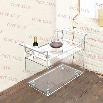 920bc9b07c55 Kd Packed Lucite Wine Bar Cart On Wheels,Acrylic Liquid Serving Trolleys  With Casters,Perspex Wine Bottle Rack One Lux - Buy Cart With Wheels ...