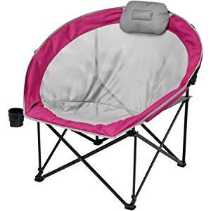 Ozark Trail Oversized Cozy Camp Chair, Berry