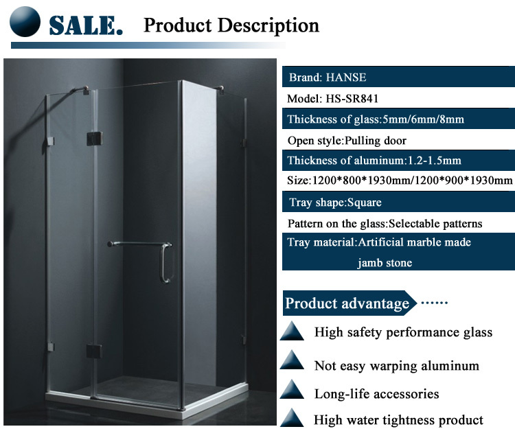 shower enclosures wholesalers/ shower cubicles price/ taking the shower cabin glass prices