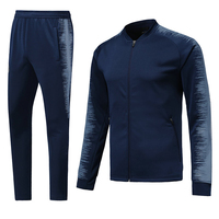18/19 long sleeve football training suit,autumn&winter men's soccer jacket quick dry soccer team uniforms