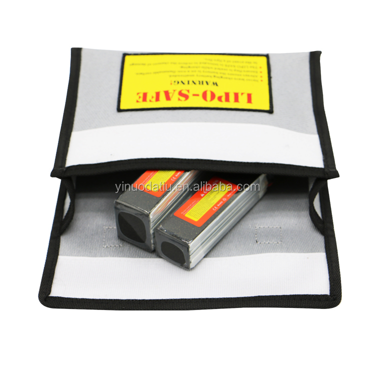 Custom OEM High Quality Fireproof Explosion-proof RC Lipo battery safe Bag For Car / RC Drone